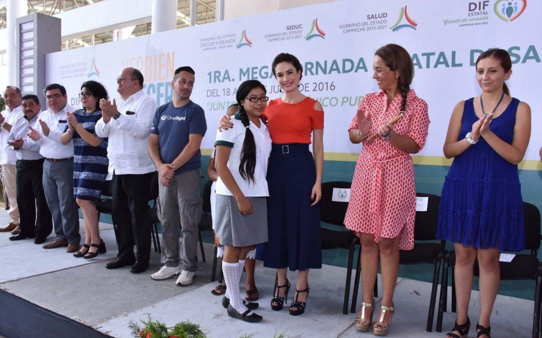 """Inauguración de la 1ª. Mega Jornada de Salud Visual 2016 """"Ver bien para Crecer en Grande"""" encabezada por el DIF Estatal"""