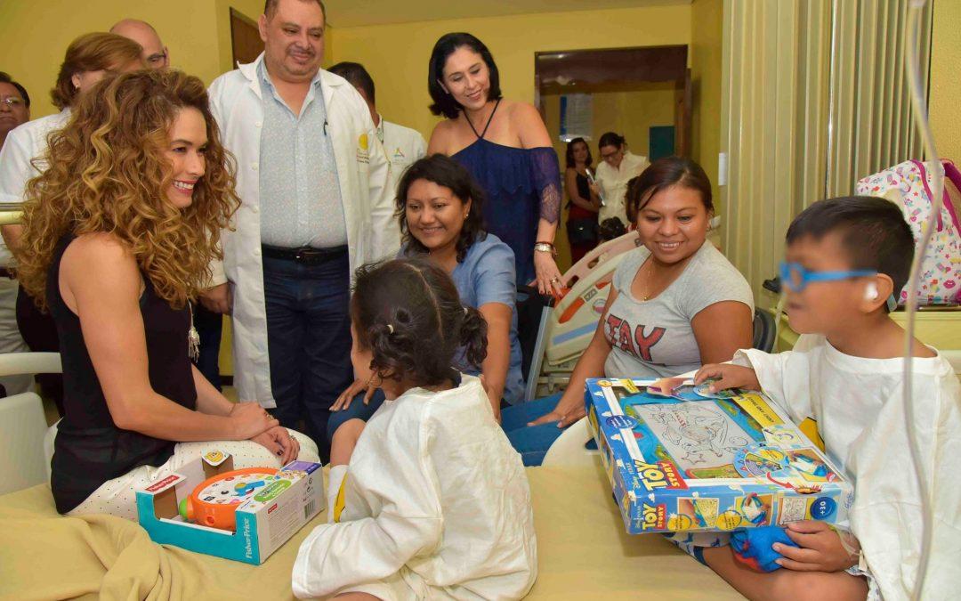 Visita a pacientes de la campaña de Labio y Paladar Hendido