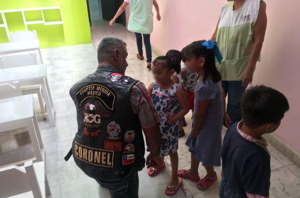 Visita de la Asociación Harley Davidson Chapter Mérida
