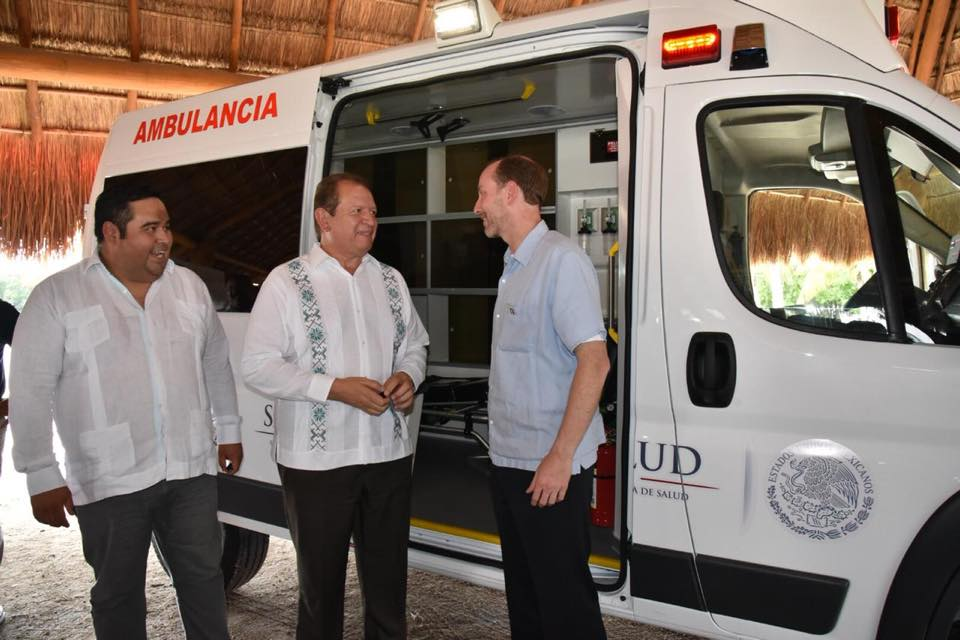 Entrega de ambulancias al municipio de Champotón