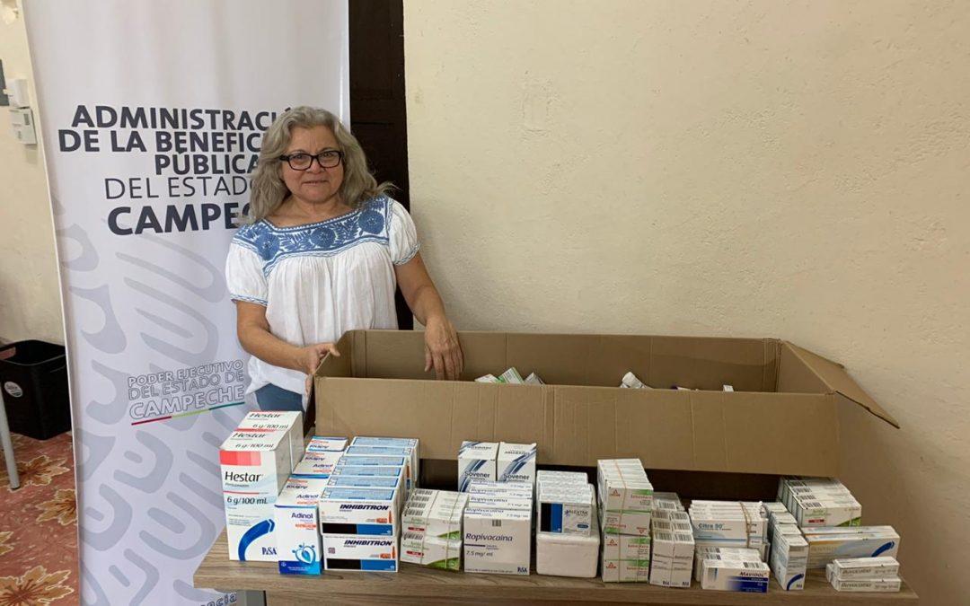 Donación de medicamentos al HGE