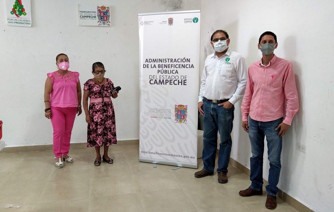 Entrega de la acción de Lentes de Armazón en el municipio de Calakmul