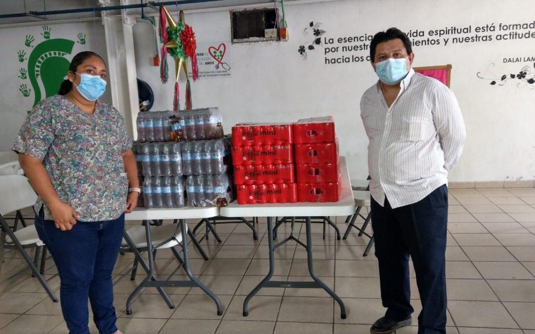 Donativo de Hidratación al albergue «Uniendo Esfuerzos»