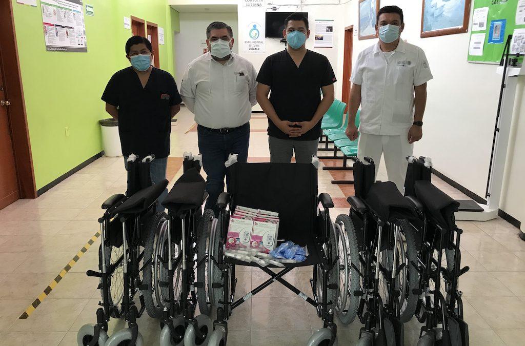 Donativo de insumos y aparatos de movilidad al Hospital Integral de Calkiní