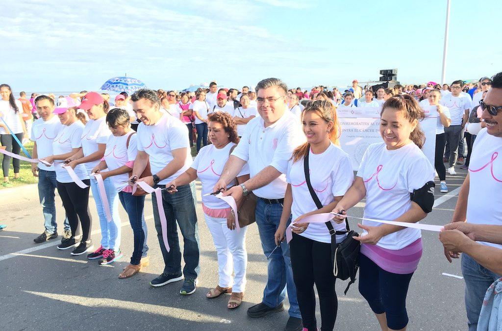 Participación en la Caminata contra el Cáncer de mama
