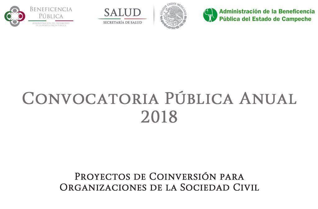 Convocatoria 2018 para proyectos de coinversión de OSC