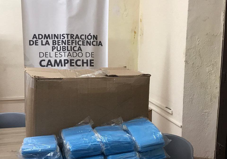 Donativo de 15 mil cubrebocas al Estado de Campeche
