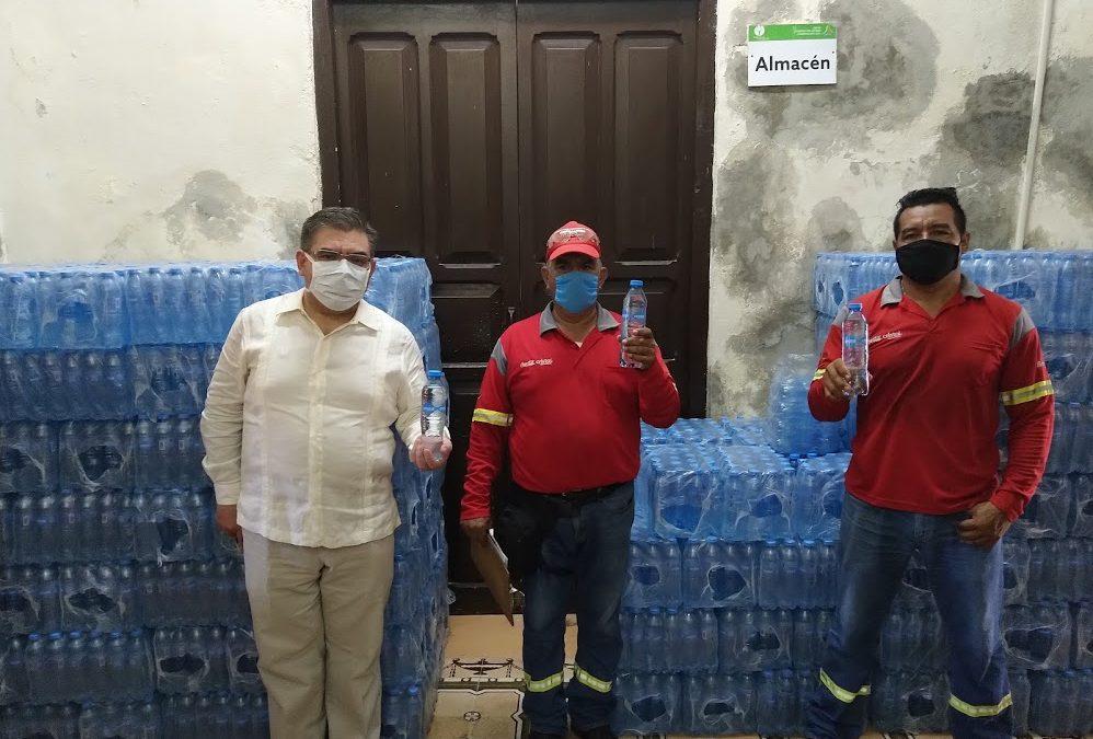 Segundo donativo de insumos para hidratación