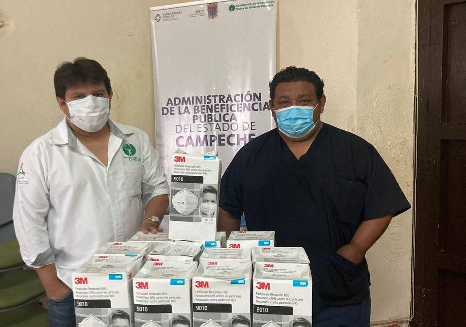 Donación de 1,000 cubrebocas N95 al Hospital «Dr. Manuel Campos»