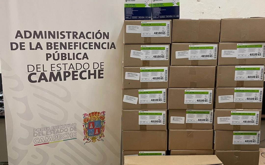 Donación de cubrebocas al Hospital «Dr. Manuel Campos»