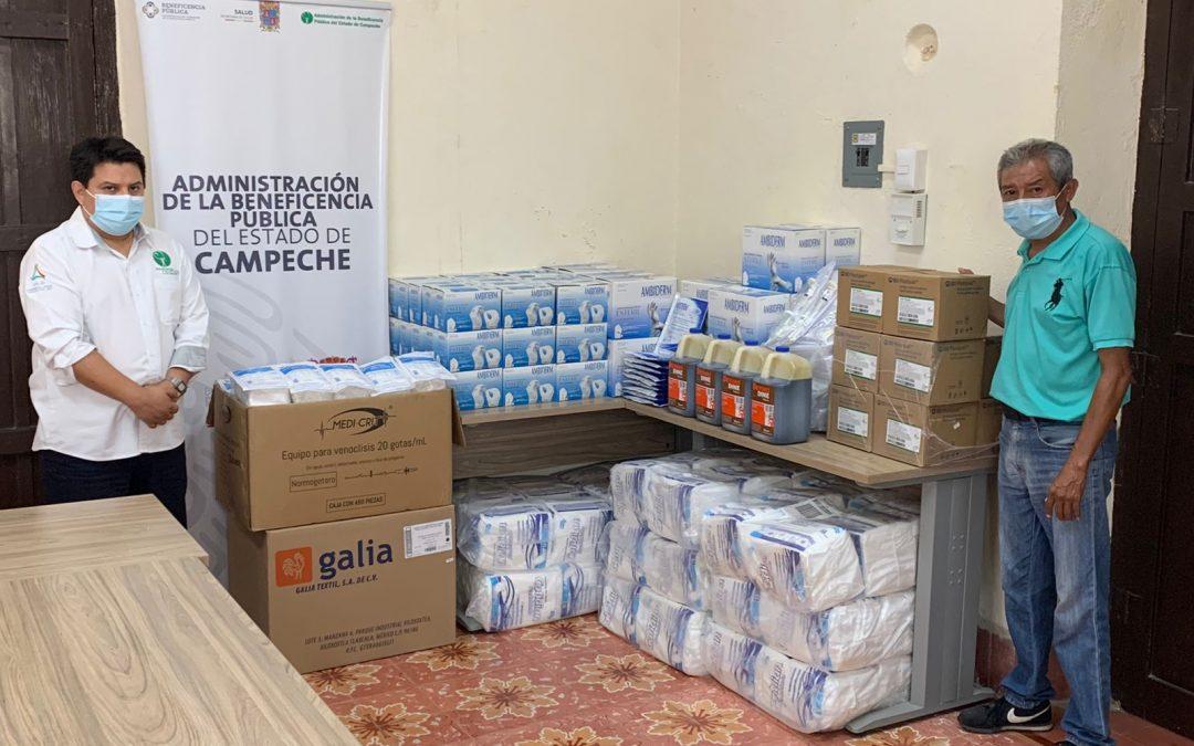 Donativo de insumos al hospital «Dr. Manuel Campos»