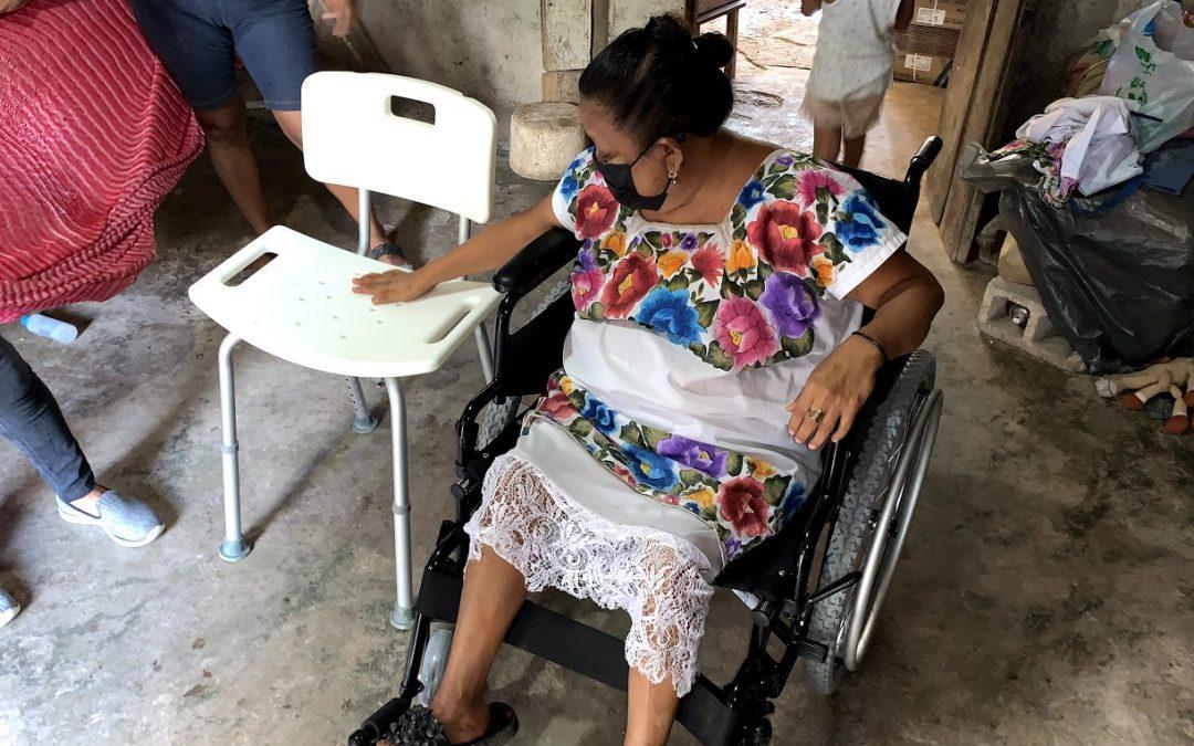 Entrega de donativos pendientes de movilidad