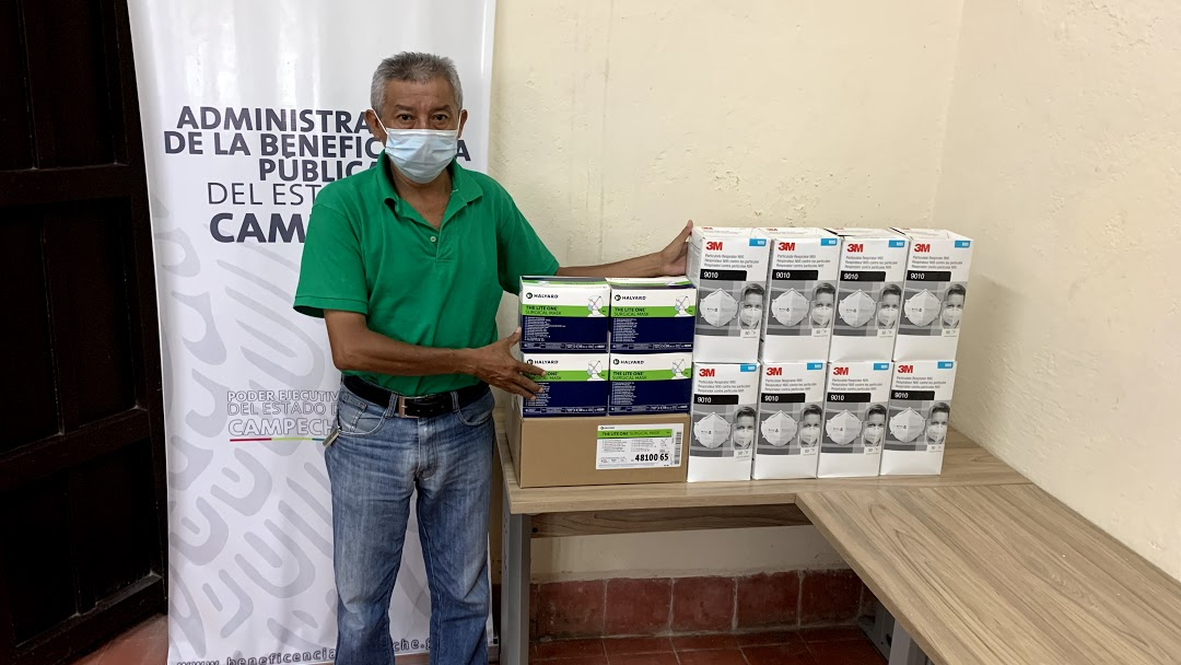 Donativo de cubrebocas al Hospital «Dr. Manuel Campos»